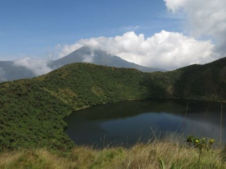 View of Karisimbi from Besoke Volcano