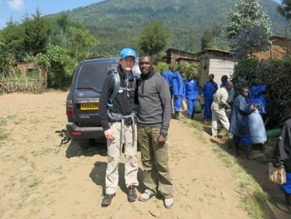 Josh with Aimable, our tour guide for the week