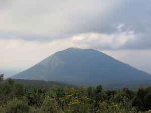 View of Bisoke volcano from Karisimbi