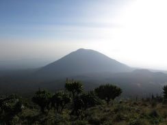 View of Bisoke volcano from Karasimbi