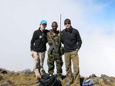 Josh and Tony with 2nd Lieutenant Mukamba of the RDF