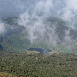 View of Karasimbi Crater