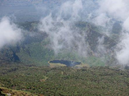 View of Karasimbi Crater